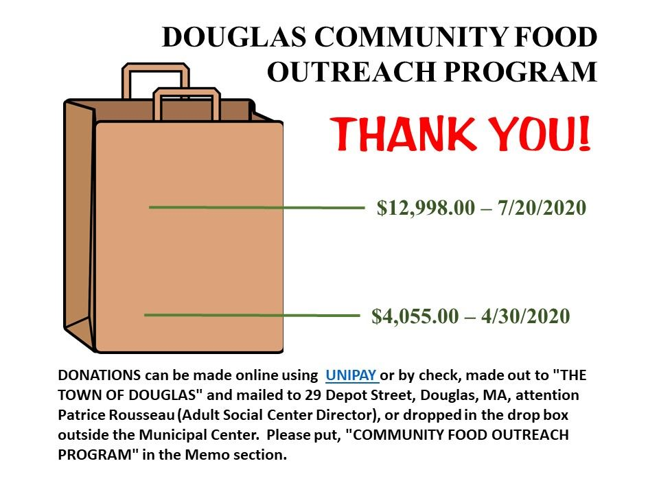 Douglas, Food outreach program, donation, COVID-19, corona virus